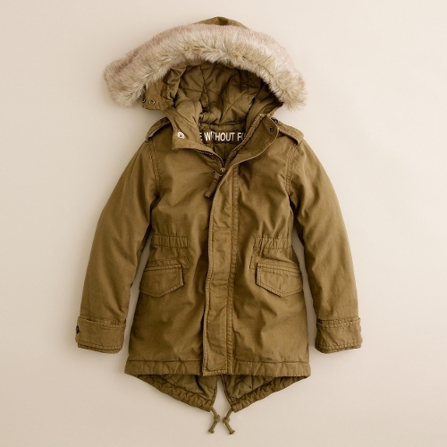Boys Military Slub Fishtail Jacket by J. Crew in Adult Beginners
