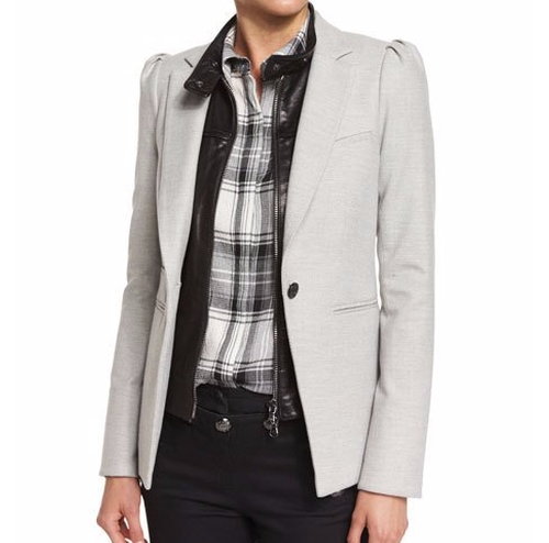 Bodega Single-Button Herringbone Blazer by Veronica Beard in Suits - Season 6 Episode 9