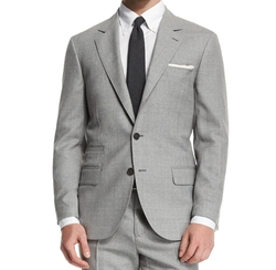 Rustic Solid Two-Piece Wool Suit by Brunello Cucinelli in Jane the Virgin