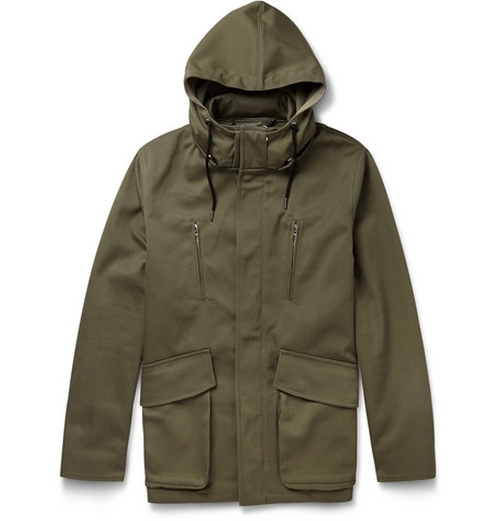 Hooded Cotton-Twill Parka by Sandro in Safe House
