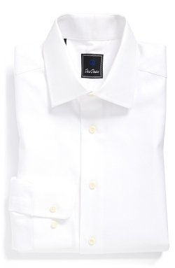 Regular Fit Solid Dress Shirt by David Donahue in Ant-Man