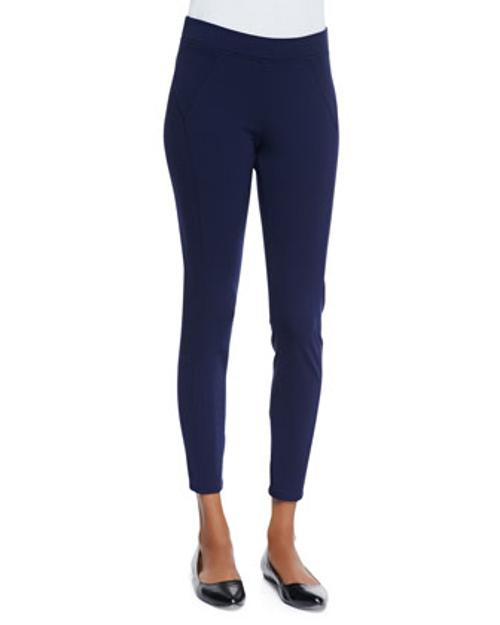 Stretch-Jersey Seamed Leggings by Three Dots in The Fault In Our Stars