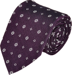 Medallion Grenadine Neck Tie by Uman in Rosewood