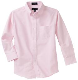 Kids Big Boys' Long Sleeve Solid Buttondown Dress Shirt by Izod in Unbroken