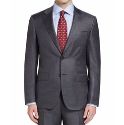Sharkskin Super 130s Wool Suit by Canali in Suits