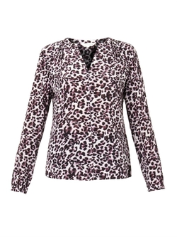 Lynx-Print Silk Blouse by Rebecca Taylor in Nashville