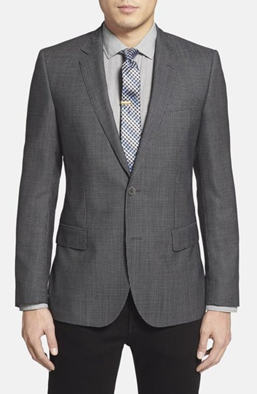 'Hutch' Trim Fit Check Wool Sport Coat by Boss Hugo Boss in The Gunman