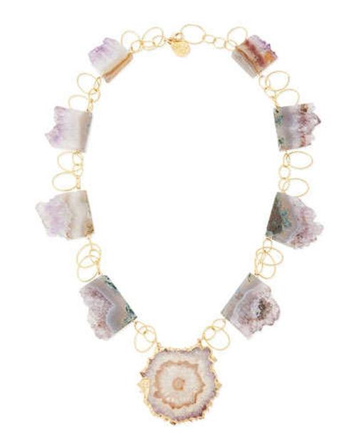 Amethyst Stalactite Vermeil Necklace by Devon Leigh in The Devil Wears Prada