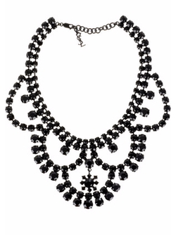 Layer Crystal Necklace by Yves Saint Laurent in Gossip Girl
