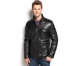Slade Smooth Leather Moto Jacket by Marc New York in Entourage