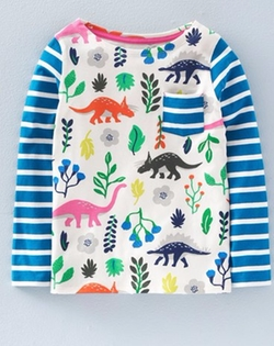'Hotchpotch' Cotton Jersey Tee by Mini Boden in Modern Family