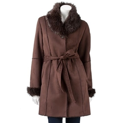 Faux-Shearling Coat by R&O in The Hateful Eight