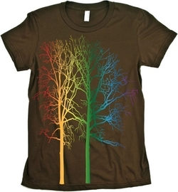 Rainbow Tree T-Shirt by Babbletees in The Big Bang Theory