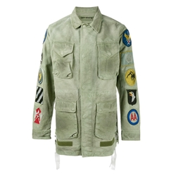 Patch Embellished Field Jacket by Off-White in Empire