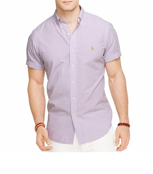 Men's Check Seersucker Shirt by Polo Ralph Lauren in Ballers - Season 2 Episode 1