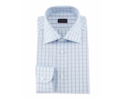 Box-Check Dress Shirt by Ermenegildo Zegna in Ballers
