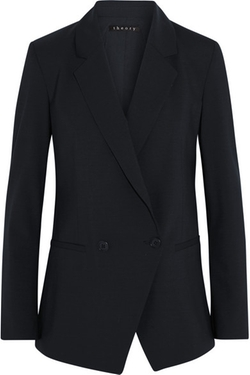 Elkaey Stretch-Wool Blazer by Theory in Billions