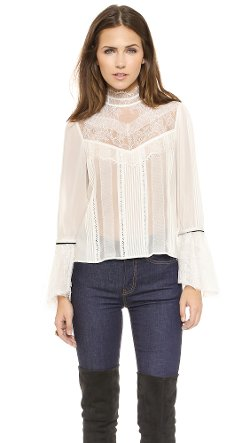 Brett Victorian Blouse by Alice + Olivia in If I Stay