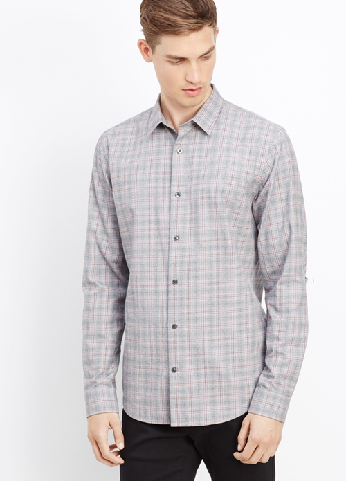 Melrose Plaid Button Up Shirt by Vince in Arrow - Season 4 Episode 8