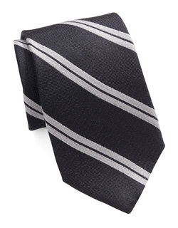 Striped Silk And Wool Tie by Michael Kors in On Her Majesty's Secret Service