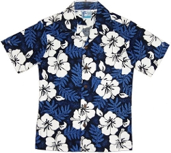 White Hibiscus Fern Hawaiian Shirt by RJC in Boyhood