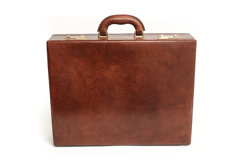 Leather Attache Case by Tony Perotti in Victor Frankenstein