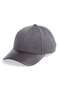 Leather Brim Tweed Baseball Cap by Gents in Top Five