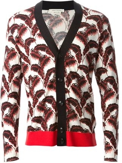 Leaf Print Cardigan by Marc Jacobs in Ballers