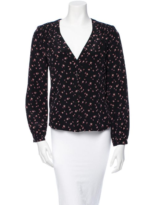Silk Floral Long Sleeve Blouse by Rachel Comey in While We're Young