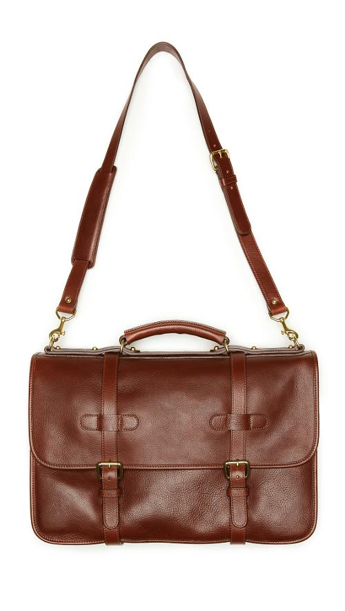 Bound-Edge English Briefcase by Lotuff Leather in What If