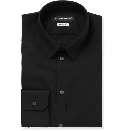 Gold-Fit Cotton-Blend Shirt by Dolce & Gabbana in The Transporter: Refueled