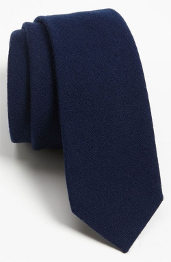 Solid Wool Blend Skinny Tie by The Tie Bar in McFarland, USA