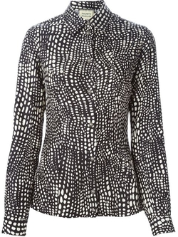 Dotted Print Shirt by Fausto Puglisi in Elementary