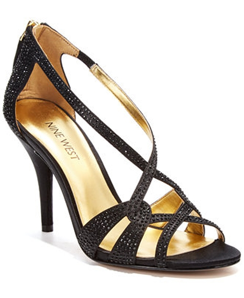 Asvelia Mid Heel Evening Sandals by Nine West in She's Funny That Way