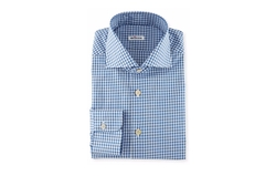 Box-Check Woven Dress Shirt by Kiton in Ballers