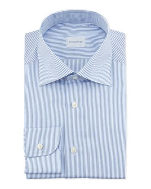 Pencil Stripe Dress Shirt by Ermenegildo Zegna in This Is Where I Leave You