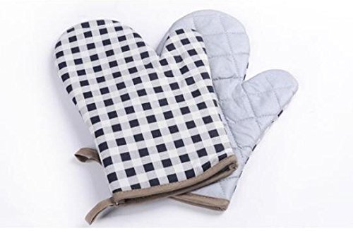 Black Plaid Oven Mitts by The Best U Want in That Awkward Moment
