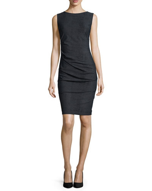 Body-Conscious Ruched Sheath Dress by Nicole Miller Artelier in How To Get Away With Murder - Season 2 Episode 7