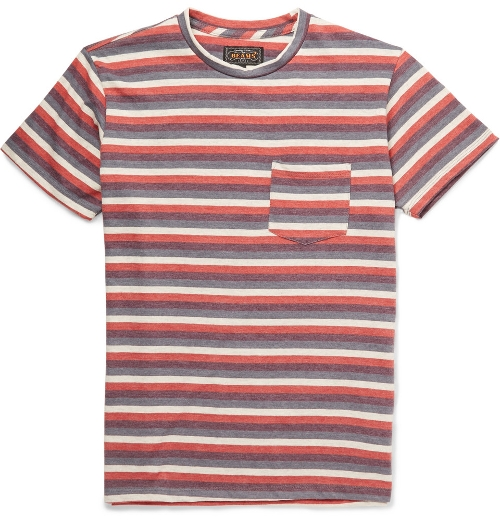 Striped Cotton-Blend Jersey T-Shirt by Beams Plus in Me and Earl and the Dying Girl