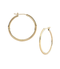 Round Knife Edge Hoop Earrings by Nadri in The 33