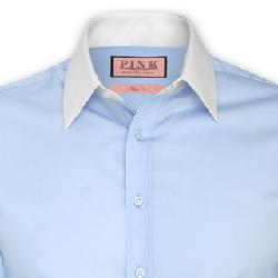 Winchester Plain Shirt - Double Cuff by Pink in The Great Gatsby