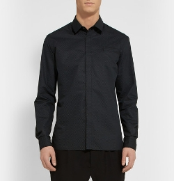 Slim-Fit Mesh-Print Cotton and Silk-Blend Shirt by Public School in The Gift