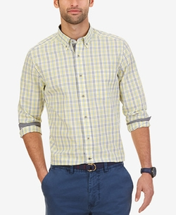 Lemonade Plaid Long-Sleeve Shirt by Nautica  in Brooklyn