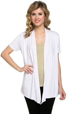 Women's Draped Open Front Cardigan by Viosi in Sixteen Candles