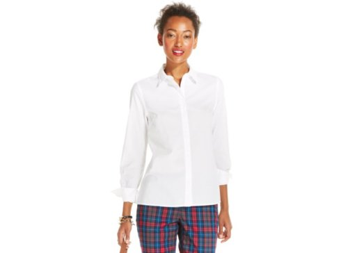 Button Down High Low Shirt by Tommy Hilfiger in If I Stay