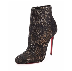 Miss Tennis Net Lace Red Sole Booties by Christian Louboutin in Empire