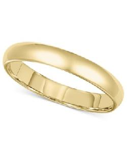 Men's 14k Gold Ring by Wedding Band in Oculus