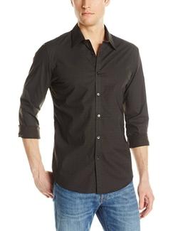 Men's Woven Button-Front Confetti-Print Shirt by Calvin Klein in Empire
