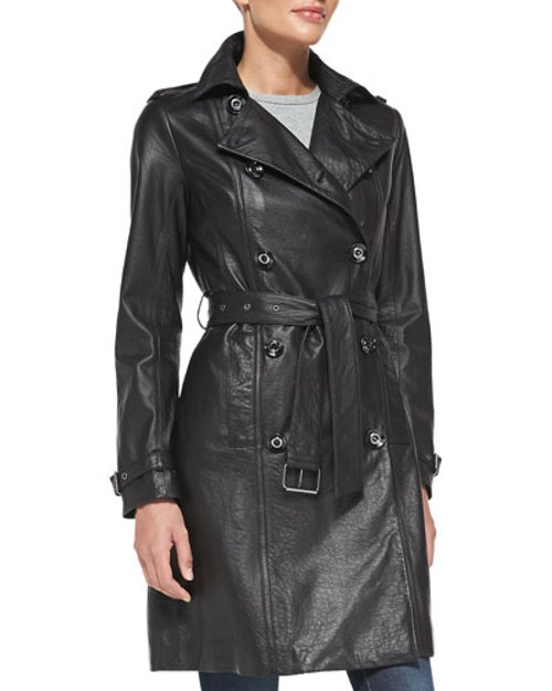 Leather Trench Coat by Neiman Marcus in Taken 3