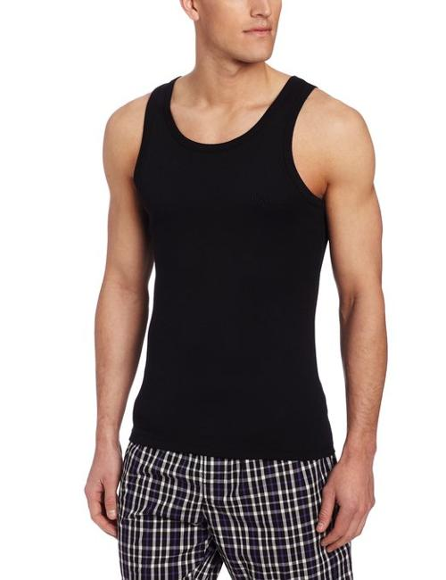 Men's Original Pure Cotton Rib Tank by Hugo Boss in Savages